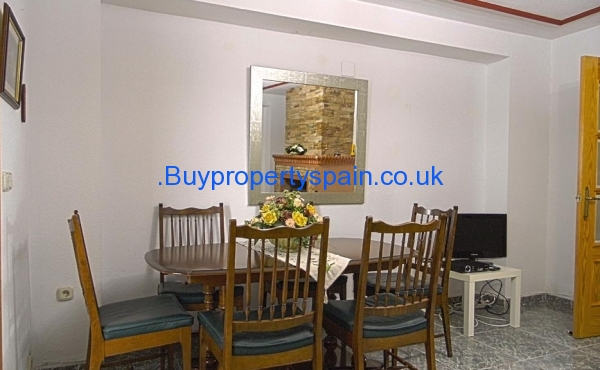 Dining area in downstairs living room